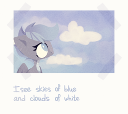 Size: 1124x1004 | Tagged: safe, artist:petruse4ka, oc, oc only, pegasus, pony, bust, cloud, eyelashes, female, looking up, mare, pegasus oc, solo, wings