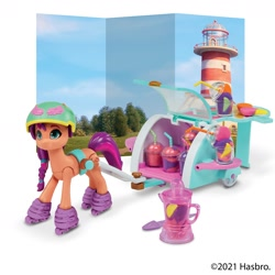 Size: 2400x2400 | Tagged: safe, sunny starscout, pony, g5, official, roller skates, toy