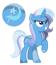 Size: 930x1088 | Tagged: safe, artist:pegasister64, trixie, alternate universe, redesign