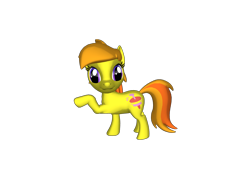 Size: 1200x900   Tagged: safe, artist:mrbarney94, noi, earth pony, pony, g1, g4, 3d, 3d pony creator, female, filly, g4 style, hoof pointing, pointing, ponylumen, simple background, transparent background