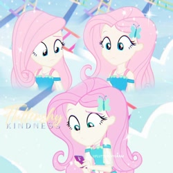 Size: 1080x1080   Tagged: safe, edit, edited screencap, editor:fluttershygram, screencap, fluttershy, equestria girls, equestria girls series, rollercoaster of friendship, cellphone, clothes, cute, cutie mark, cutie mark on clothes, female, geode of fauna, hairpin, jewelry, magical geodes, necklace, phone, shyabetes, smartphone, solo