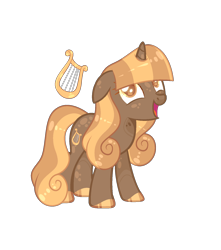 Size: 1446x1636 | Tagged: safe, artist:lilywolfpie-yt, lyra heartstrings, pony, alternate design, simple background, solo, transparent background
