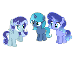 Size: 2000x1500   Tagged: safe, artist:stardustshadowsentry, oc, oc only, pegasus, pony, unicorn, female, filly, magical lesbian spawn, offspring, parent:oc:snowdrop, parent:princess luna, simple background, transparent background