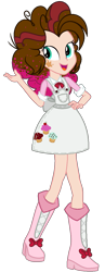 Size: 541x1395 | Tagged: safe, artist:whiteplumage233, oc, oc:velvet icing, equestria girls, boots, clothes, shoes, simple background, solo, transparent background