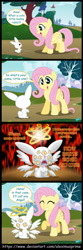 Size: 1600x4815 | Tagged: safe, artist:aleximusprime, angel bunny, fluttershy, seraph, angel, angel is a bunny bastard, angelic wings, biblically accurate angels, comic, creepy, cute, eye, eyes, fire, multiple wings, ophanim, scary, that explains everything, wings