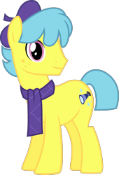 Size: 4000x5896   Tagged: safe, artist:catachromatic, curtain call (pony life), earth pony, pony, pony life, .svg available, absurd resolution, freckles, g4.5 to g4, male, simple background, smiling, solo, stallion, svg, transparent background, vector, vector trace