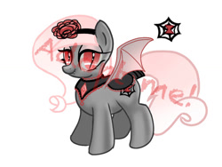 Size: 1024x768   Tagged: safe, artist:pegas1ster, oc, oc:black widow, bat pony, bat pony oc, cutie mark, female, looking at you, mare, simple background, solo, white background