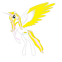Size: 1836x1832   Tagged: safe, artist:xxxmlp-fimxxx, oc, oc:angel, alicorn, alicorn oc, female, flying, horn, large wings, looking down, mare, simple background, solo, white background, wings