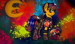 Size: 13197x7810   Tagged: safe, artist:brekrofmadness, artist:radiancebreaker, earth pony, pony, absurd resolution, female, mare, ponified, sabine wren, solo, star wars rebels