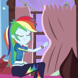 Size: 1078x1078   Tagged: safe, screencap, rainbow dash, blizzard or bust, equestria girls, equestria girls series, holidays unwrapped, spoiler:eqg series (season 2), athletic ass, athletic legs, butt, clothes, geode of super speed, hoodie, leggings, magical geodes, minor edit, rainbutt dash, the ass was fat, thicc ass, thicc legs, thicc thighs, thick, thighs