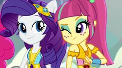 Size: 1920x1073 | Tagged: safe, screencap, pinkie pie, rarity, sour sweet, dance magic, equestria girls, spoiler:eqg specials