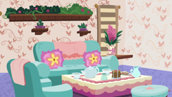 Size: 1280x720   Tagged: safe, screencap, discordant harmony, background, couch, discord's house, liminal space, no pony, pillow, scenic ponyville