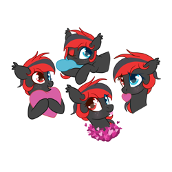 Size: 4500x4500   Tagged: safe, artist:chip16, oc, oc only, oc:sharpe, bat pony, pony, bat pony oc, bust, commission, cute, female, heterochromia, mare, portrait, solo, solo female, ych result