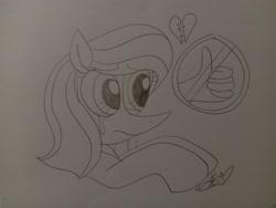 Size: 4160x3120 | Tagged: safe, artist:muhammad yunus, oc, oc only, oc:annisa trihapsari, earth pony, pony, crying, cute, earth pony oc, eyelashes, female, heartbreak, mare, ocbetes, sad, sketch, solo, traditional art
