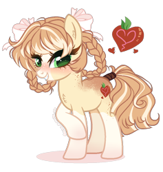 Size: 900x948 | Tagged: safe, artist:gihhbloonde, oc, earth pony, pony, body freckles, braid, coat markings, female, freckles, mare, offspring, parent:applejack, parent:feather bangs, simple background, socks (coat markings), solo, transparent background