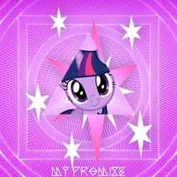 Size: 2400x2400   Tagged: safe, artist:wooshy, twilight sparkle, unicorn, abstract background, bust, cutie mark, earth wind & fire, portrait, unicorn twilight
