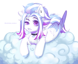 Size: 3400x2800   Tagged: safe, artist:avroras_world, oc, oc only, oc:aurora thunderlight, pegasus, pony, cloud, dreamworks face, female, high res, looking at you, mare, pegasus oc, solo, wings