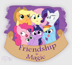 Size: 3000x2739 | Tagged: safe, artist:sphiradraws, applejack, fluttershy, pinkie pie, rainbow dash, rarity, spike, twilight sparkle, alicorn, dragon, earth pony, pegasus, pony, unicorn, derp, eyelid pull, female, group, high res, male, mane seven, mane six, mare, open mouth, puffy cheeks, silly, silly face, silly pony, text, title drop, tongue out, twilight sparkle (alicorn), who's a silly pony