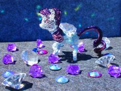 Size: 3553x2665 | Tagged: safe, alternate version, artist:malte279, rarity, pony, unicorn, craft, cutie mark, gemstones, sculpture, wire sculpture