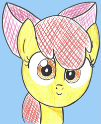 Size: 903x1114 | Tagged: safe, artist:entou, apple bloom, adorabloom, cute, female, filly, traditional art