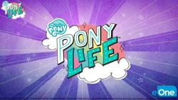 Size: 1280x720 | Tagged: safe, boulder media, my little pony: pony life, pony life, cloud, eone, logo, my little pony logo, no pony, rainbow, stars, text