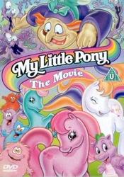 Size: 332x475   Tagged: safe, hydia, smooze (g1), spike (g1), bushwoolie, dragon, human, pony, g1, g2, my little pony: the movie (g1), dvd cover, united kingdom