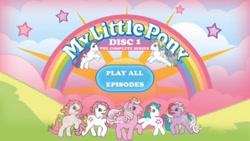 Size: 393x222   Tagged: safe, g1, my little pony 'n friends, dvd menu, shout factory