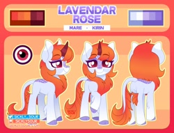 Size: 1474x1127 | Tagged: safe, artist:sickly-sour, oc, oc only, kirin, kirin oc, reference sheet, solo