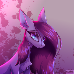 Size: 2500x2500   Tagged: safe, artist:spirit-fire360, pinkie pie, earth pony, pony, blood, chest fluff, doodle, ear fluff, looking at you, pinkamena diane pie, solo