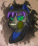 Size: 2500x3000   Tagged: safe, artist:diskrt, oc, oc:keygun, pony, gas mask, hood, mask, solo
