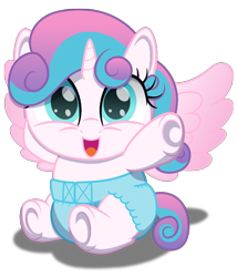 Size: 1500x1750 | Tagged: safe, artist:spellboundcanvas, princess flurry heart, alicorn, pony, baby, baby pony, cute, diaper, flurrybetes, smol, solo, spellboundcanvas is trying to murder us, young