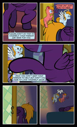 Size: 1920x3169   Tagged: safe, artist:alexdti, oc, oc:aqua lux, oc:purple creativity, oc:warm focus, pegasus, pony, comic:quest for friendship, crying, female, male, shoulder angel, shoulder devil, twilight's castle