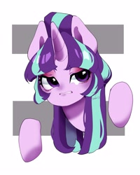 Size: 2000x2500 | Tagged: safe, artist:potetecyu_to, starlight glimmer, pony, unicorn, equal cutie mark, female, frown, high res, mare, s5 starlight, solo