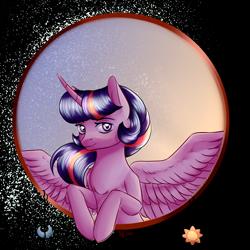 Size: 2000x2000 | Tagged: safe, artist:brilliant-luna, twilight sparkle, alicorn, pony, female, simple background, solo, transparent background, twilight sparkle (alicorn)