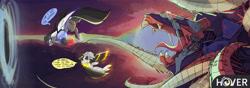 Size: 8491x3000   Tagged: safe, artist:ignis, oc, oc only, oc:pango, oc:wyn, pegasus, pony, comic:hover