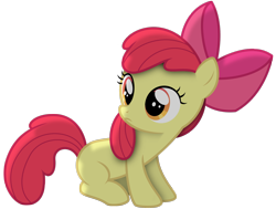 Size: 1600x1211   Tagged: safe, artist:thewonderbanana, apple bloom, female, filly, shadow, simple background, solo, transparent background, vector