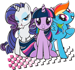 Size: 2048x1898   Tagged: safe, rainbow dash, rarity, twilight sparkle, simple background, stock vector, transparent background