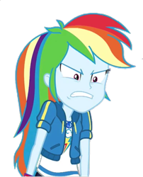 Size: 583x720   Tagged: safe, rainbow dash, equestria girls, equestria girls series, holidays unwrapped, spoiler:eqg series (season 2), angry, geode of super speed, gritted teeth, magical geodes, narrowed eyes, rage, ragebow dash