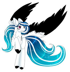 Size: 2929x3000   Tagged: safe, artist:inspiredpixels, oc, oc only, oc:marie pixel, pegasus, pony, chest fluff, female, heterochromia, mare, rearing, simple background, solo, spread wings, transparent background, wings