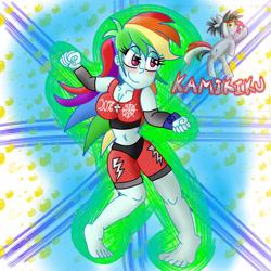 Size: 3000x3000 | Tagged: safe, artist:kamikiku, rainbow dash, equestria girls