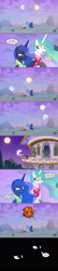 Size: 1140x5237 | Tagged: safe, artist:silverbuller, edit, edited screencap, screencap, princess celestia, princess luna, twilight sparkle, alicorn, pony, between dark and dawn, season 9, bad end, comic, crash, darkness, equestria is doomed, female, high res, mare, moon, now you fucked up, oops, reality ensues, royal sisters, screencap comic, siblings, sisters, sun, this will end in death, this will end in tears, this will end in tears and/or death, trio, trio female, twilight sparkle (alicorn), uh oh, xk-class end-of-the-world scenario