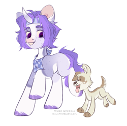 Size: 1019x1011   Tagged: safe, artist:hellishprogrammer, oc, dog, pony, unicorn, male, simple background, solo, stallion, white background