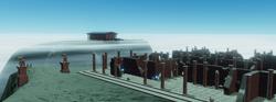 Size: 870x324   Tagged: safe, artist:singularmj, oc, oc:horizon, pony, unicorn, game development, ruins