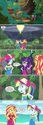 Size: 1137x3280   Tagged: safe, artist:silverbuller, edit, edited screencap, screencap, rainbow dash, sunset shimmer, twilight sparkle, equestria girls, equestria girls series, spring breakdown, spoiler:eqg series (season 2), comic, screencap comic