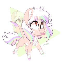 Size: 1234x1267 | Tagged: safe, artist:moccabliss, oc, bat pony, pony, chibi, female, mare, simple background, solo, tongue out, transparent background