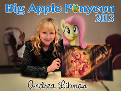 Size: 2048x1536 | Tagged: safe, artist:jadedjynx, fluttershy, 2013, andrea libman, big apple ponycon, voice actor