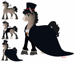 Size: 5100x4200   Tagged: safe, artist:eperyton, oc, oc only, earth pony, pony, clothes, earth pony oc, hat, hoof fluff, male, simple background, stallion, top hat, white background