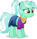 Size: 3654x3867 | Tagged: safe, artist:anime-equestria, lyra heartstrings, pony, unicorn, alternate hairstyle, clothes, cute, ear piercing, female, happy, horn, jewelry, lyrabetes, mare, necklace, piercing, ponytail, shirt, simple background, smiling, solo, transparent background, vector