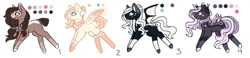 Size: 1596x372   Tagged: safe, artist:inspiredpixels, oc, oc only, earth pony, pegasus, pony, adoptable, bat wings, wings