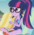 Size: 1640x1687   Tagged: safe, screencap, sci-twi, twilight sparkle, equestria girls, equestria girls series, friendship math, adding machine, beach chair, clothes, cropped, female, geode of telekinesis, glasses, juice, lemonade, magical geodes, one-piece swimsuit, ponytail, sci-twi swimsuit, sleeveless, solo, swimsuit